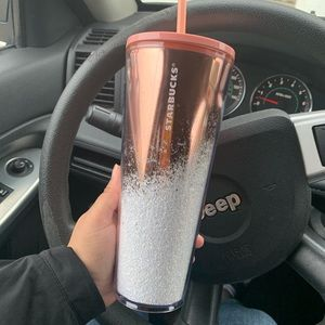 STARBUCKS HOLIDAY 2019 ROSE GOLD TUMBLER